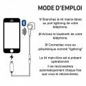 KIT PIÉTON ÉCOUTEUR OREILLETTE lightning POUR MOBILE APPLE IPHONE 6 7 8 X