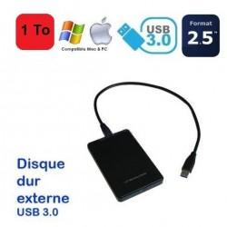 MINI DISQUE DUR Externe 1To Usb Auto-alimenté, Léger, Portable, Pc & Mac Usb 3.0