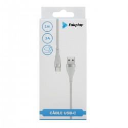 Câble Type-C (Blanc ou Noir)
