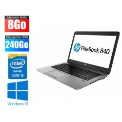 Ordinateur portable HP EliteBook 840 G2 | i5 - 5300U | 8Go RAM | 240Go SSD