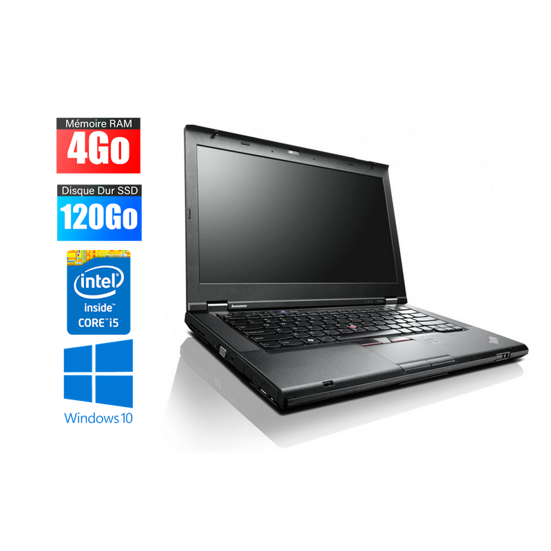 Ordinateur portable IBM Lenovo T430s intel core I5 - 4GO - SSD 120 Go