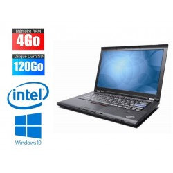 Ordinateur Portable Lenovo ThinkPad T400 |core2 | 4Go RAM | 120Go SSD
