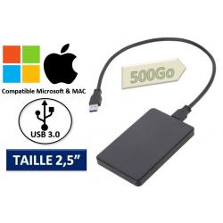 MINI DISQUE DUR Externe 500 Go Usb Auto-alimenté, Léger, Portable, Pc & Mac Usb 3.0
