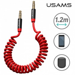 USAMS Câble Jack/Jack Extensible rouge
